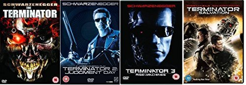 Terminator Quadrilogy Complete (4 Discs) DVD Collection: Terminator 1 / Terminator 2: Judgement Day / Terminator 3: Rise of the Machines / Terminator 4: Salvation Extras by Arnold Schwarzenegger