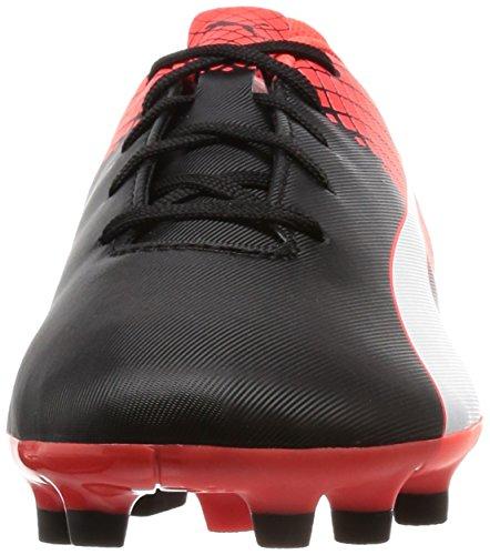 Puma Evospeed 5,5 Ag Jr Chaussure de Football Nero/Bianco/Red Blast