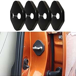 Muchkey Car Door Lock Protective Cover Anti-corrosive Lock Cover Interior Exterior Part 4pcs per