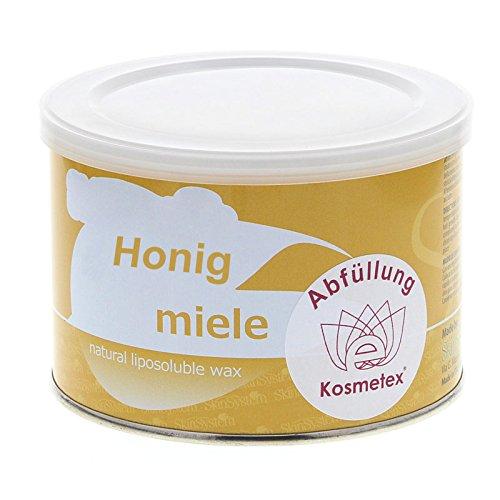 Kosmetex Honig Heiß Wachs-Dose 400ml, Warmwachs miele