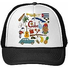2c0e465deb36a DIYthinker Gorra de béisbol Cuba Paisaje Aduanas Landmark Animales Nacional  de la Dieta Residente Bandera Ilustración