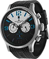 Jacques Lemans 1-1668A - Reloj cronógrafo de cuarzo para hombre, correa de plástico color negro (cronómetro) de Jacques Lemans