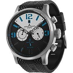 Jacques Lemans Porto 1-1668A Men's Chronograph Black PU Strap Watch