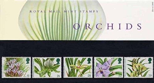1993-orchidee-lot-de-presentation-pp205-imprime-numero-236-motif-timbre-de-la-royal-mail