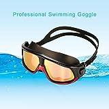toyfun Schwimmbrille verstellbar Anti-Fog UV-Schutz Schwimmbrille für Erwachsene Herren Damen