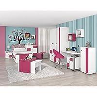 Kinderzimmer Komplett - Set A Lena, 10-teilig - Farbe: Weiß/Pink preisvergleich bei kinderzimmerdekopreise.eu