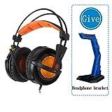 YaNanHome Gaming Headset Head-Mount 7.1-Kanal-Desktop-Headset mit Mikrofon-Headset (Color : Black)