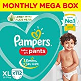 Pampers Diaper Pants Monthly Box Packs, X-Large, 112 Count