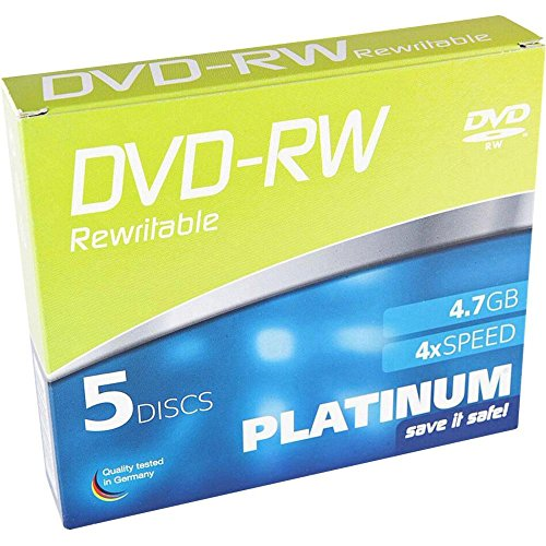 Platinum 102570 DVD-RW 4,7GB, 4X Speed, 5er Slimcase Platinum Dvd-rw