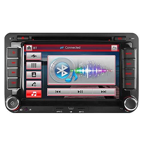 IAUCH 17,8 cm Auto Stereo GPS Navigation DVD Navi für VW Passat Golf Transporter T5 Unterstützung 3G DAB+ Radio Bluetooth Lenkradsteuerung Spiegel Link CD VMCD USB Spiel