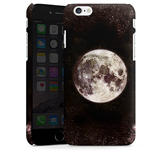 Apple iPhone 6s Silikon Hülle Case Schutzhülle Mond Moon Universum Premium Case matt