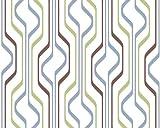 Esprit Home 139849 Vliestapete World Culture, Mustertapete, weiß/grün/blau/braun
