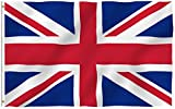 inShang Bandiera 150x90cm Italia Spagna Francia Bandiera, Germania Italia Union Jack Regno Unito bandiera Brasile Messico Giappone unito nazionale dello Stato di bandiera della bandierina del Canada. Coppa Europa di calcio ventilatore bandiera dei Giochi Olimpici bandiera Sport Pallacanestro Parade Flag