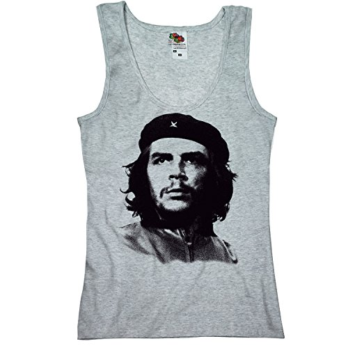 TEE-Shirt, Women Tank-Top Che Guevara L,Grau (Lady Womens Tank Top Girly)