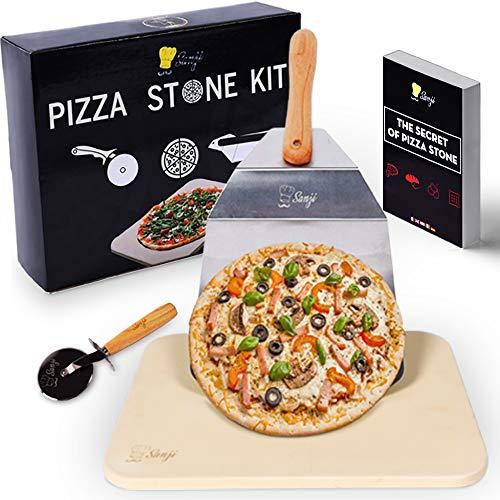 Sanji Pierre à Pizza réfractaire pour Four et Barbecue -...