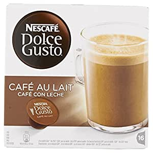 Nescafe Dolce Gusto Cafe Au Lait Coffee Pods 16 Capsules - Pack of 3 (Total 48 Capsules)