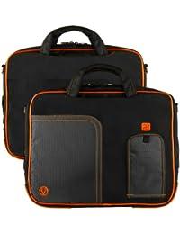 Vangoddy Pindar PC portables et Tablettes tactiles Sacoche Nylon pour ordinateur portable pour 12 pouces 13 pouces et 14 pouces PC portables et Tablettes (Orange)
