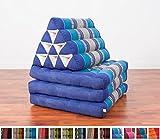 Leewadee Colchoneta Thai con almohada triangular, 170x53x30 cm, Capok, Azul