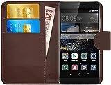 G-Shield Hülle für Huawei P8 Klapphülle mit Kartenfach - Braun