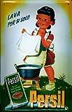 Blechschild Persil Lava por si solo Waschtopf Nostalgieschild Werbeschild