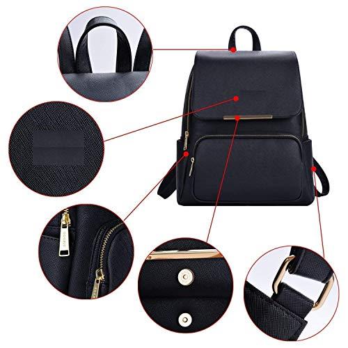 Diving Deep Black Casual Backpack for Stylish Girls Shoulder College/School Bag Image 4