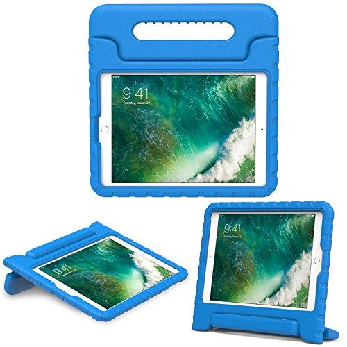 MoKo Hülle für Neu iPad 9.7 Zoll 2017 - Superleicht EVA Stoßfest Kinderfreundlich Kinder Schutzhülle mit umwandelbarer Handgriff Handle und Standfunktion für Apple New iPad 2017 9.7 Zoll / iPad Air / iPad Air 2 Tablet, Blau