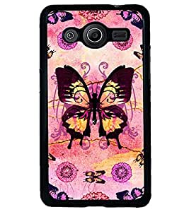 Printvisa Assorted Butterfly Pattern Back Case Cover for Samsung Galaxy Core 2 G355H