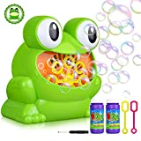 YAMI Kids Bubble Machine Battery Operated, Frog Bubble Maker Over 500 Bubbles Per Minute for Party, Wedding, Indoor and Outdoor Activities (2 Bottles Bubble Solution Included)