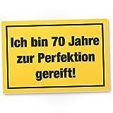 DankeDir! 70 Jahre Perfektion, Kunststoff Schild - Geschenk 70. Geburtstag, Geschenkidee Geburtstagsgeschenk Siebzigsten, Geburtstagsdeko/Partydeko / Party Zubehör/Geburtstagskarte