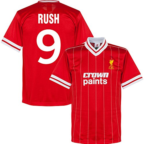 1982 Liverpool Home Retro Trikot + Rush 9 - M (Retro Trikot Home)