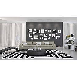 SalesFever 3-Sitzer Couch mit Kunstleder Bezug Creme/weiß 280x90 cm | Tezur | Moderne Couch-Garnitur 3-Sitzer Creme/Weiss 280cm x 90cm