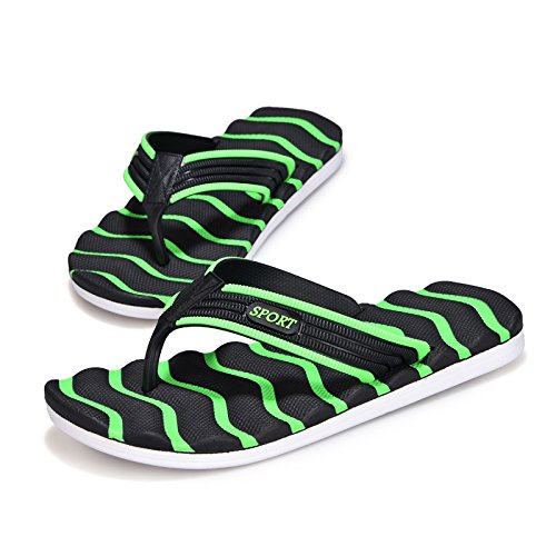 chaussures tongs chaussures plage hommes traînés pantoufles de bain Black green