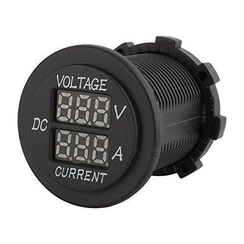 qiilu Auto Motorrad DC 12-24V Dual LED Digital Voltmeter Amperemeter AMP Volt Meter Sprache Dc Amp Meter