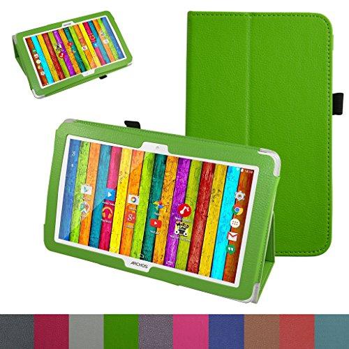 """Archos 101D Neon Coque,Mama Mouth Slim Folio PU Cuir debout Fonction Housse Coque Étui Couverture pour 10.1"""" Archos 101D Neon Tablette,Vert"""