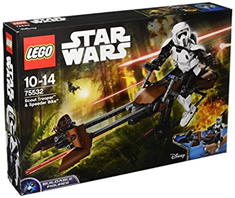 LEGO - 75532 - Star Wars - Jeu de Construction - Scout Trooper & Speeder Bike