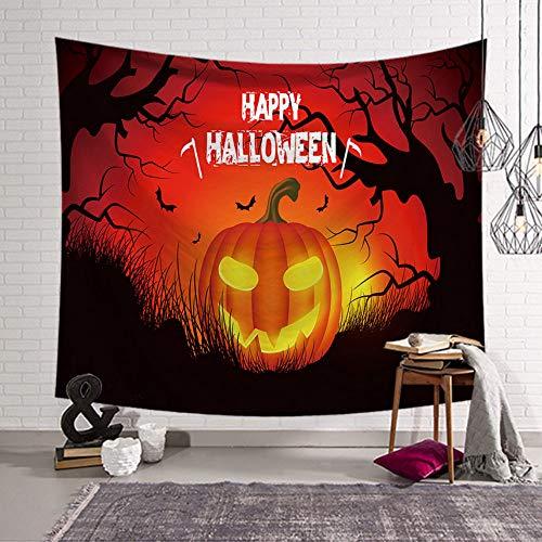 Rjjdd Halloween Fledermaus Tapisserie Wand Stoff Wandbehang Wandteppich Decke Wandteppiche für Wohnzimmer Schlafzimmer Bauernhaus Dekor rot-150x130cm (Halloween-makeover Für Mädchen)