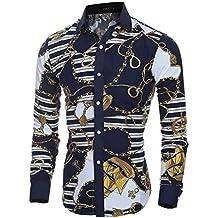 e05395adaa8 Versaces Hommes Chemise La Mode Classique Rétro Couleur Coupe Slim Manches  Longues Chemise