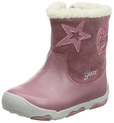 Geox Baby Mädchen B New Balu\' Girl B Stiefel, Pink (DK Pink), 22 EU
