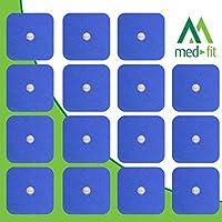 MED-FIT 5x5cm Flexi STIM 16 x 3.5mm Stud (tipo snap/boton) TENS Almohadillas autoadhesivas encajan con BEURER,.