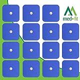 MED-FIT 5x5cm Flexi STIM 16 x 3.5mm Stud (tipo snap/boton) TENS Almohadillas autoadhesivas encajan con BEURER, SANITAS y VIRTUALMENTE todas las Maquinas de masaje TENS en Amazon.