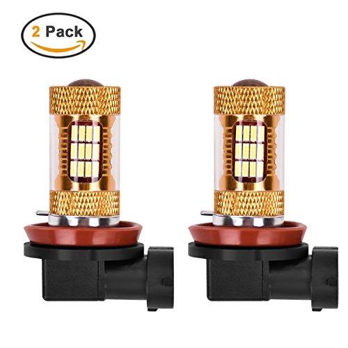 Preisvergleich Produktbild MHtech 2 x LED Nebelscheinwerder Birnen H11 H8 Tagfahrlicht 1200 Lumen Extrem Helle 54-SMD 4014 Auto KFZ Leuchte Birne Lampe Leuchtmittel Mit Linse Xenon Weiß 6000K DC12V