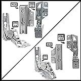 Spares2go Typ 336333625.041,5Hettich Typ Tür Scharnier-Set für integrierte Kühlschrank/Gefrierschränke Hotpoint