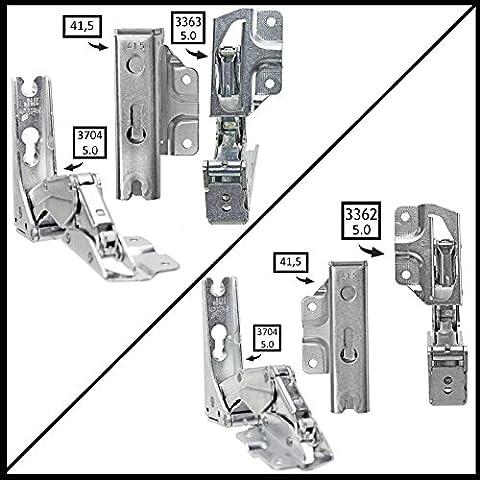 spares2go Typ 336333625.041,5Hettich Typ Tür Scharnier Set für integrierte Kühlschrank Gefrierschränke Kuppersbusch