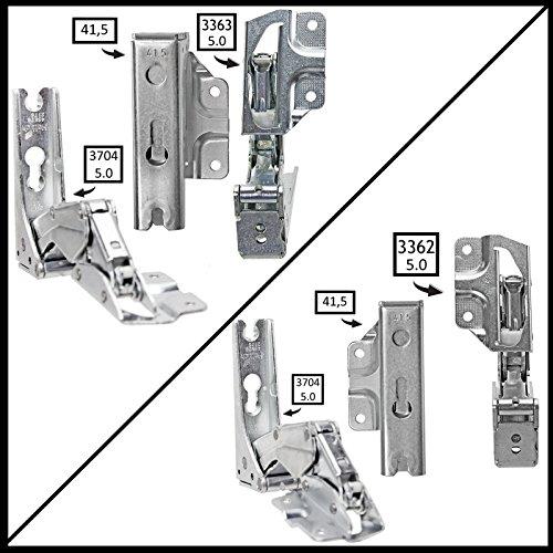 Spares2go Typ 336333625.041,5Hettich Typ Tür Scharnier-Set für integrierte Kühlschrank/Gefrierschränke Blomberg