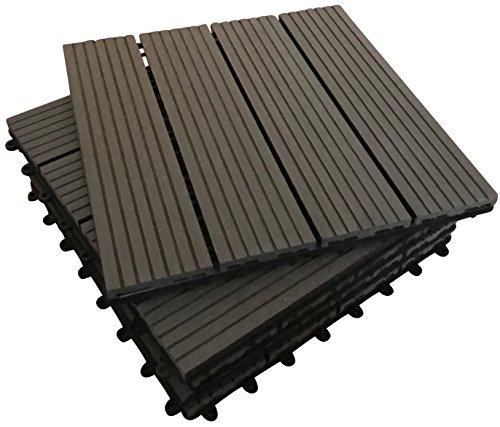 36-x-interlocking-composite-piastrelle-ebano-click-deck-piastrelle-patio-giardino-balcone-vasca-idro