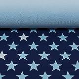 Nano Softshell Programm Sheldon von Swafing Sterne dunkelblau/hellblau (ab 25cm x 140cm)