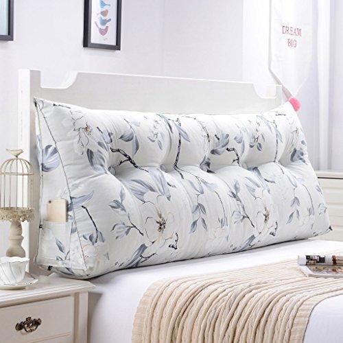 Cojines en forma de cuña, almohada para sofá y cama, respaldo suave y cómodo, de microfibra lavable, poliéster, 12, 90 cm