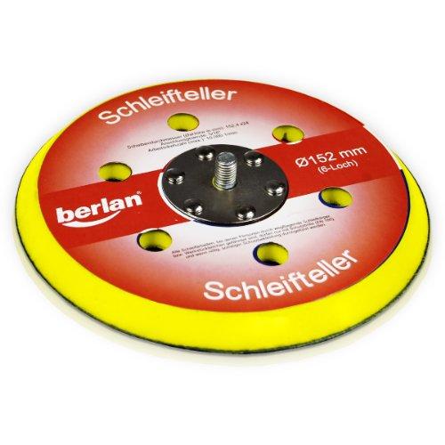Berlan Schleifteller 150mm (6-Loch) für Druckluft Exzenterschleifer
