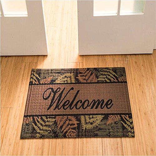 Qianmo-Carpet Matratzen in den Matratzen Badezimmer Matten rutschhemmend Teppiche Küche Badezimmer Matten, 75 * 45 Cm neun Blätter - Gras-teppich Badezimmer