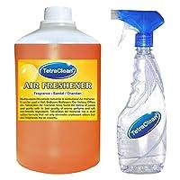Tetraclean Multipurpose Sandal Fragrance Air Freshener With Free Spray Bottle(1100ml)